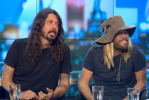 Taylor Hawkins wears Kooringal hat on The Project